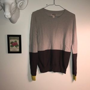 Forever 21 Grey Block Sweater